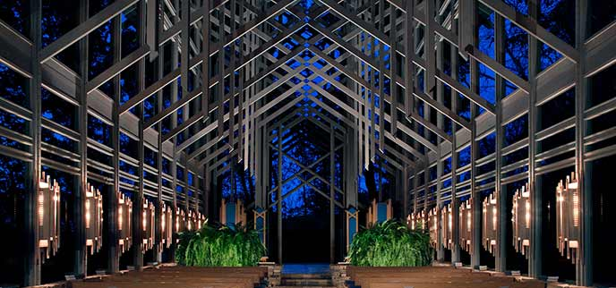 Photo of Thorncrown Chapel